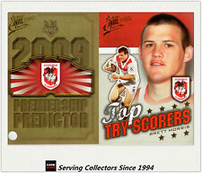 2009 NRL Classic Predictor + Top Tryscorer Card TT12 Brett Morris (Dragons)