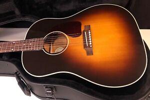 MINT! Gibson J45 Standard Vintage Sunburst Acoustic Guitar OHSC Unplayed 2021