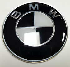 45mm di accoppiamenti BMW NERO VOLANTE ADESIVO Badge Emblema 1 2 3 4 5