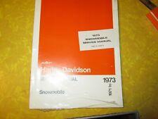 New listing Harley Knucklehead Flathead Snowmobile OEM NOS 1973 Service Manual