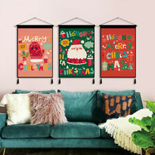 Christmas Wall Hanging Tapestry Canvas Pictures wall Art for Living Room