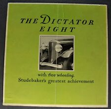 1931 Studebaker Dictator Sales Brochure Folder Nice Original 31