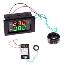 1pcs Digital Ammeter Voltmeter Lcd Panel Amp Volt Meter Gauge Ac 100a 80 300v