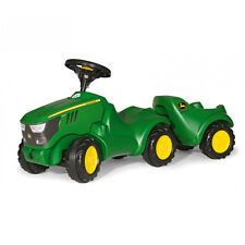 New Rolly Toys John Deere 6150R Mini Tractor and Trailer - No Pedals - Age 1+