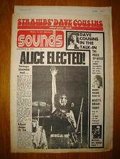 SOUNDS 1972 DEC 30 ALICE COOPER SLADE + STRAWBS POSTER