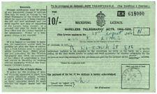 (I.B) George VI Revenue : Wireless Licence 10/- (1946)