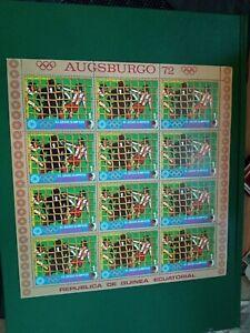 Equatorial Guinea MNH M/S Summer Olympics Munich Augsburg -1972 -BLOCK SHEET-1