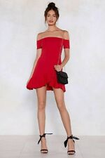 Nasty Gal off the shoulder red tight dress. Size 6. New with tags.