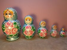 Wooden Stacking Nesting Dolls Hand Painted Set Of 5 (MF320)