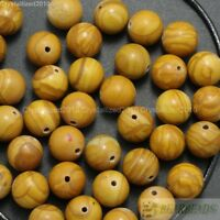 Natural Wood Grain Jasper Gemstone Round Beads 4mm 6mm 8mm 10mm 12mm 14mm 16''