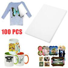 100* A4 Sublimation Paper Iron On Heat Press Transfer Paper Inkjet Print T-shirt