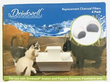 Drinkwell Pet Fountain Charcoal Filters For Avalon and Pagoda Fountains 4 Pack