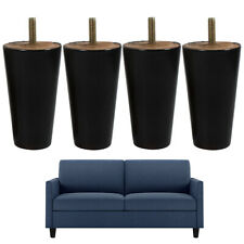 Wooden Furniture Legs Replacement For Ottoman Sofa Dresser 4 inch 4pcs Black