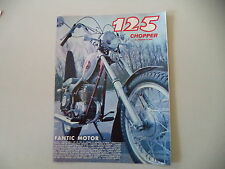 advertising Pubblicità 1973 MOTO FANTIC CHOPPER 125