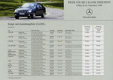 Lista de precios mercedes clase c Limousine 26.9.02 precios 2002 w203 C 32 AMG 320 240