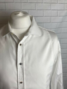 "Thomas Pink Shirt Evening Wear 17.5"" Regular Fit Double Cuff"