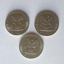 1975, 84, 86 Sudáfrica Fifty Cent 50 C