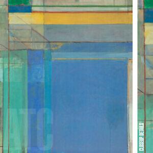 "35W""x40H"" OCEAN PARK #79 by RICHARD DIEBENKORN - BLUE VERTICAL CHOICES of CANVAS"
