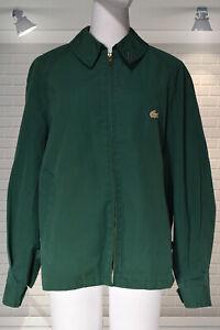 Vintage IZOD LACOSTE Green Harrington Style Windbreaker Jacket - MEDIUM