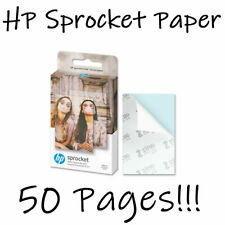 50 x HP Sprocket ZINK Sheets Sticky Back Photo Paper for Sprocket Printers NEW