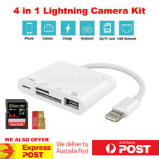 4in1 OTG Lightning Camera Connection Kit 8 Pin to USB Adapter SD TF Card Reader