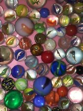 Mixed lot of 2 Pounds of Marbles, Shooters & More