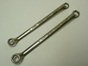 2 Vintage Heyco Ring Spanners 10 x 11mm, 8 x 9mm. Made in W Germany Good & Clean