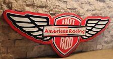 "AMERICAN RACING HOT ROD EMBOSSED METAL 21""  FORD CHEVY GARAGE MAN CAVE wheel"