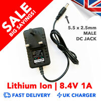 8.4v 1A Li-Ion Battery Charger AC Power Adapter UK Plug Bicycle Bike Light (UK P