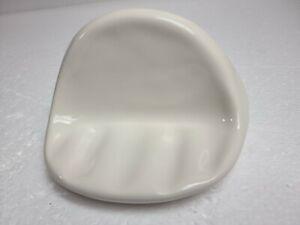 Beige Bone Natural Almond Ceramic Soap Dish Tray Classic Color 036 FT FL7N Retro