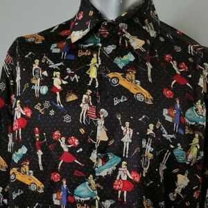 Blouse NICOLE MILLER Collection Silk Print ShirtAuthentic Nicole Miller Collection P 100/% Silk Made in China Size Small with Buttons Shirt