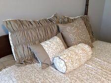 Queen Comforter Set Home Reflections Calista 6-piece Comforter Set Taupe NEW