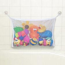 Kids Baby Time Bath Toy Tidy Storage Suction Cup Bag Mesh Bathroom Organiser Net