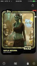 Topps Star Wars Digital Card Trader Gold Aayla Secura Base Variant