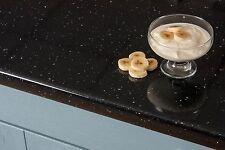 Black Sparkle Andromeda Laminate Kitchen Worktop 3000 x 600 x 38mm Gloss Worktop