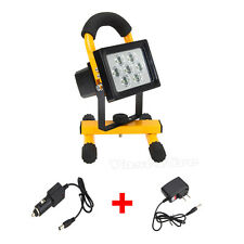Waterproof 3000LM 7x LED Rechargeable Flood Spot Work 50W Lamp Outdoor Light +CH