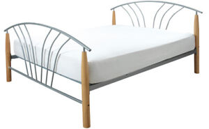 Double Juliet Silver Beech Double Bed LOCAL DELIVERY Asembly Option