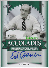 2017 POP CENTURY ACCOLADES AUTO: ED ASNER #1/1 OF ONE AUTOGRAPH NSCC EXCLUSIVE