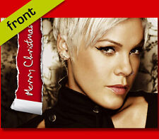 PINK Signed Reproduction Autograph CHRISTMAS Card