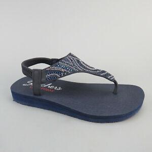 Skechers »Meditation - New Moon« Sandale mit Gummizug Navy Gr.37 UK 4 Gebraucht