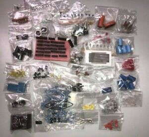 ELECTRONIC COMPONENTS KIT IC's Caps, Diodes, Inductors, LED's, JOB LOT School