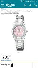 Citizen Eco-Drive Women's EW0890-58X Rvia Pink Dial Diamond Bezel 26mm Watch