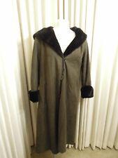 Utex Design Womens Rain Jacket / Trench / Winter Coat Full Length Green Size M