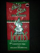 "Christmas Tree Garland 4 Boxes Icicles 8000 Strands 18"" Long Brite Star Nip"