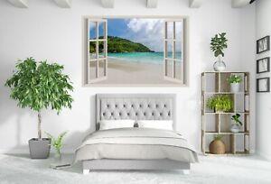Large Beach Window Scenery Blue sea Canvas Collection Home Decor Wall Print Art