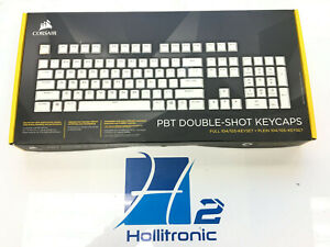 CORSAIR PBT Double-shot Keycaps Full 104/105-Keyset (WHITE)