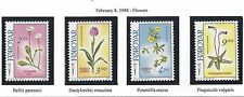 "FAROE ISLANDS   #169-172 -  MNH - 1988 -  ""FLOWERS"""