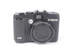 Canon PowerShot G16 12.1MP Digital Camera - Black #J02789