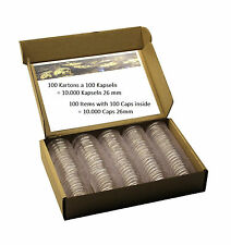 10.000 Coin Capsules Caps Capsula 26 mm for 2 Euro Coins > See Details