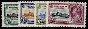 TURKS & CAICOS ISLANDS GV SG187-190, SILVER JUBILEE set, M MINT.